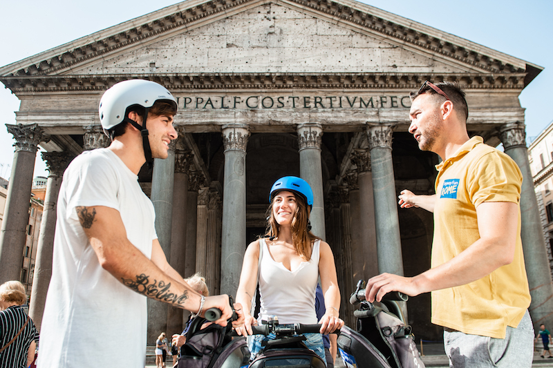 Exploring Pantheon during Segway Tour in Rome