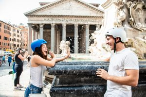 Refreshment at the fountain in front of the Pantheon