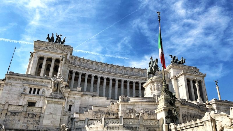 Vittoriano, museum of Risorgimento and thumb of unknown soldier situated at piazza Venezia in Rome
