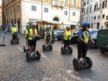 a group of riends starting their segway tour