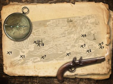 Map of a treasure that you have to find in Rome