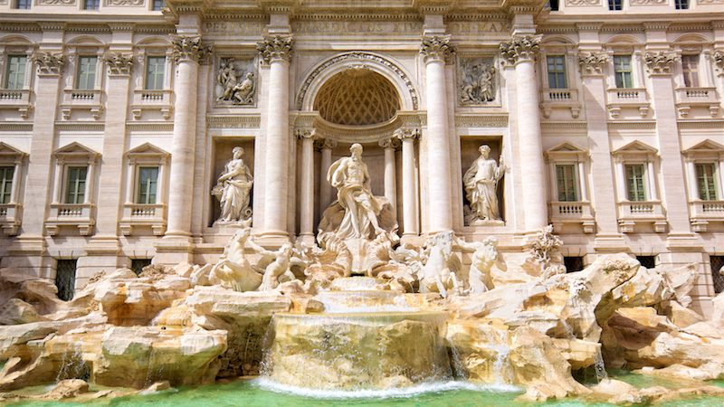 Famous Trevi Fountain of Rome