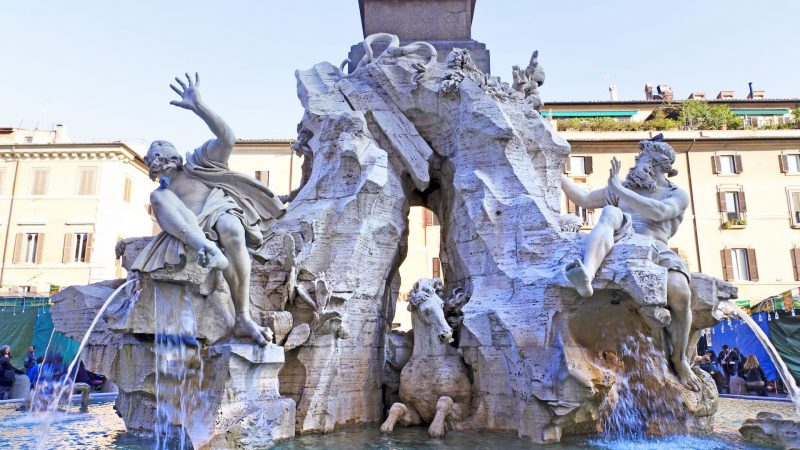 Piazza Navona and Fountain of Four Rivers in Rome