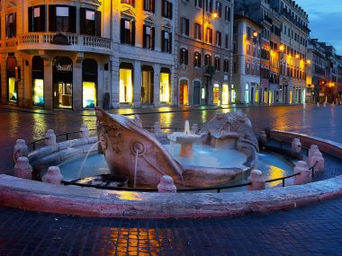 Fountain under the Spanish Steps