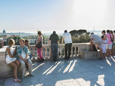 The best view of Rome is from Pincio hill