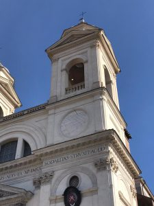 Detail of the church of Trinità dei Monti near Spanish Steps in Rome