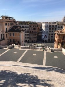 View of Spanish Steps from the church of Trinità dei Monti