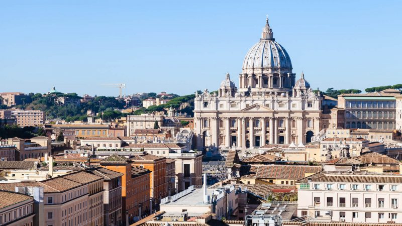 Dome of St Peter's basilica in Rome