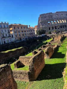 Training school for gladiators next to Colosseum in Rome