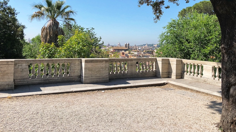 View of Rome from Villa Borghese and Pincio hill