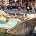Fountain at the Spanish Steps in Rome