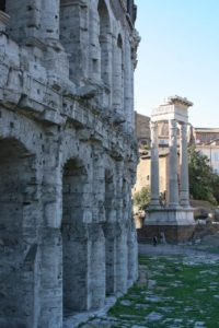 Detail of Theatre of Marcellus in Rome