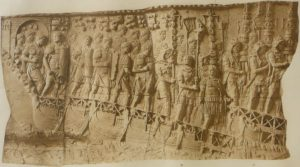 Another detail of Trajan's Column in Rome