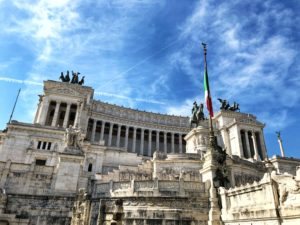 Vittoriano, museum of Risorgimento and thumb of unknown soldier situated in Piazza Venezia in Rome