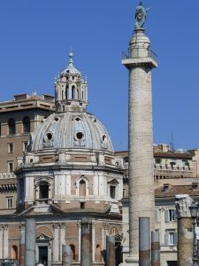 View of Trajan's Column with Roman forums