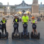 Family with two kids on the segway tour in Rome